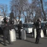 Силовики покидают свои позиции возле здания Верховной рады