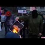 В Киеве сожгли Викторию Нуланд. К посольству США тащят покрышки