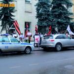 Массовый пикет у посольства Украины в поддержку борьбы против 5-й колонны (06-07.02.2014)