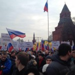 В Москве более 65 тыс. человек вышли на митинг в поддержку жителей Крыма