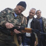 На верность народу Крыма присягнула первая рота добровольцев
