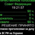 Сенаторы единогласно одобрили обращение президента на использование ВС РФ на Украине