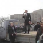 Харьковчане назвали Кернеса предателем и прогнали с митинга