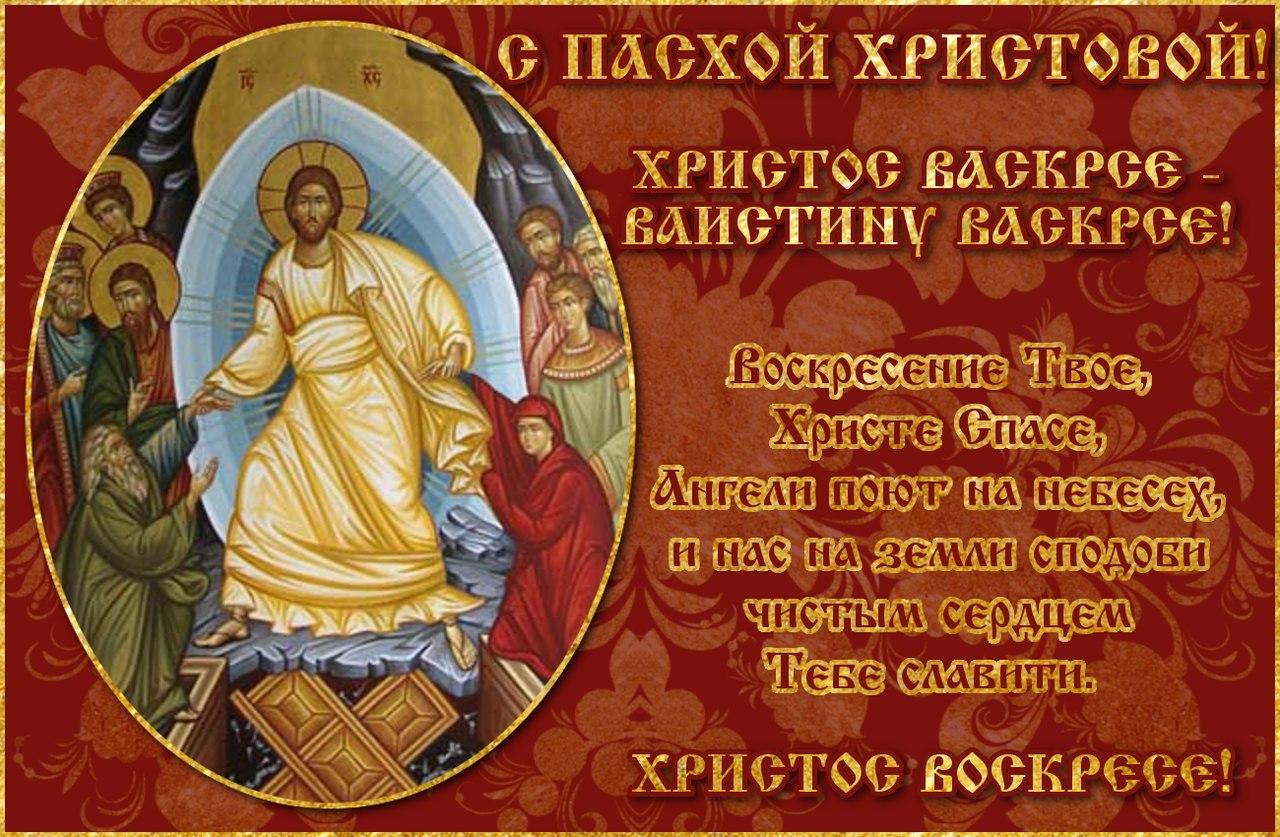 Поздравления с христос воскресеньем