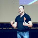 Павел Губарев отвечает на вопросы на съезде партии Новороссия в Донецке