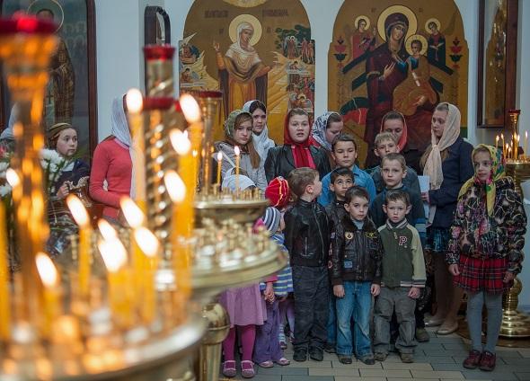 Праздник Пасхи в Славянске