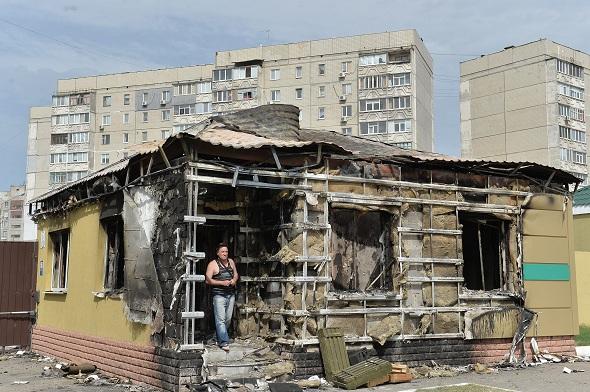 Ситуация в районе базы Луганского погранотряда, 4 мая 2014