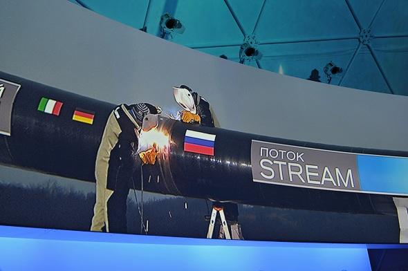 В.Путин принял участие в церемонии, посвященной сварке первого стыка газопровода «Южный поток»