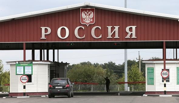 Международный автомобильный пропускной пункт «Нехотеевка» на границе России с Украиной