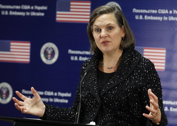 Пресс-конференция заместителя госсекретаря США В.Нуланд в Киеве