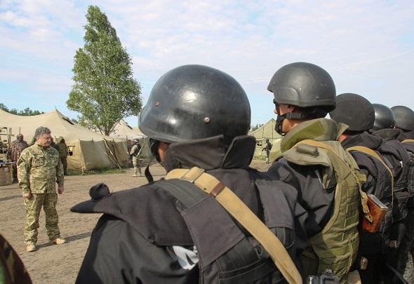 Рабочая поездка президента Украины П.Порошенко в Донецкую область