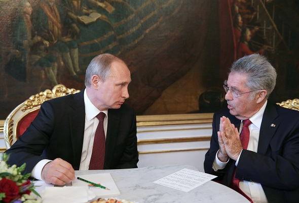 Рабочий визит президента РФ В.Путина в Австрию