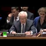 Чуркин: В Совбезе ООН отвергли предложенное РФ заявление о прекращении огня на Украине