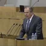 Выступление главы МИД РФ Сергея Лаврова в Госдуме