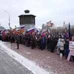 В субботу 21 февраля в Екатеринбурге состоялся митинг-Антимайдан