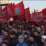 Акция в поддержку действий Национального лидера В.В. Путина в борьбе с пятой колонной
