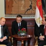 Пресс-конференция Владимира Путина и президента Египта