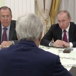 Встреча Владимира Путина с госсекретарём США Джоном Керри