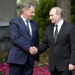 Пресс-конференция Владимира Путина и президента Финляндии