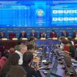Объявление предварительных результатов выборов депутатов Госдумы